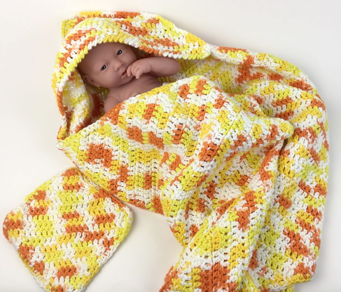 Hooded Baby Towel And Washcloth Set Hooked For Life